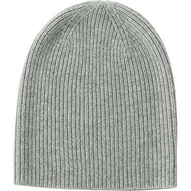 WOMEN CASHMERE BEANIE, LIGHT GRAY, medium