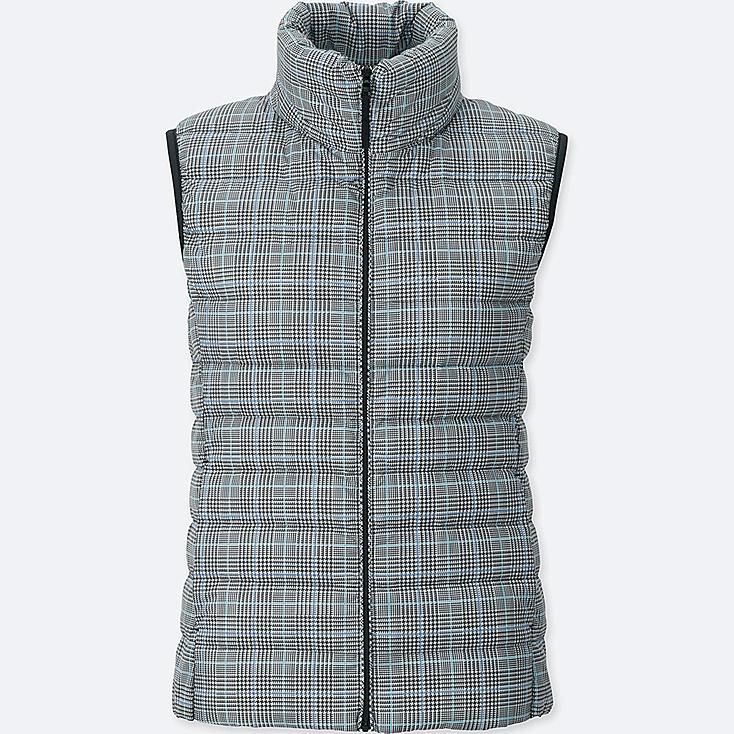 WOMEN ULTRA LIGHT DOWN VEST, LIGHT GRAY, large