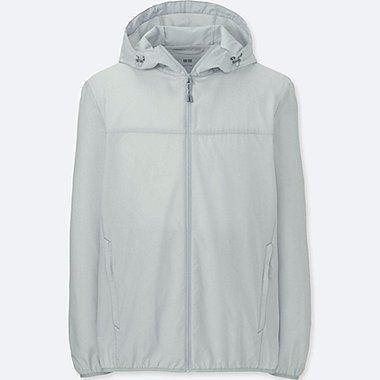Men POCKETABLE PARKA, LIGHT GRAY, medium