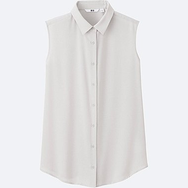 Women Blouses | Silk Touch | Long Sleeve | UNIQLO UK