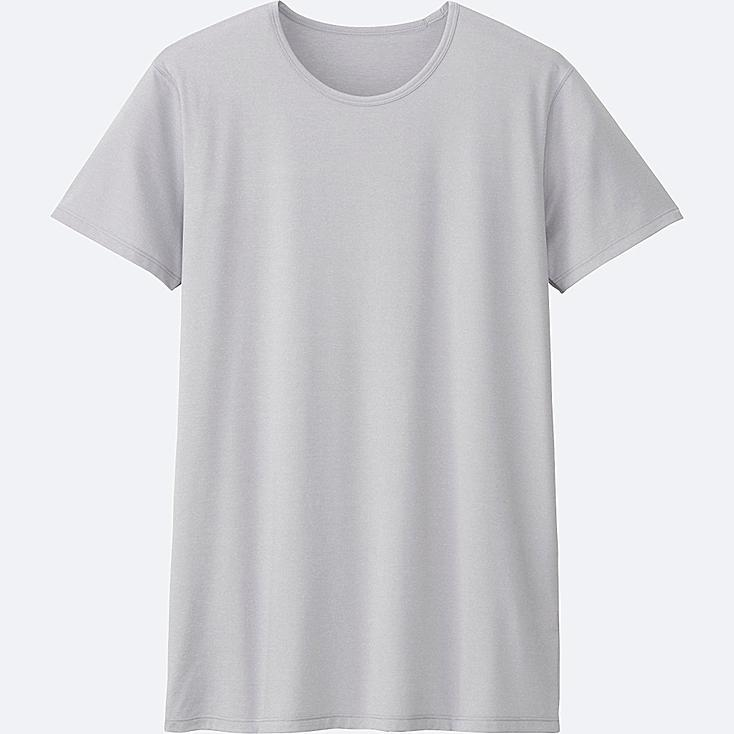 MEN AIRism CREWNECK SHORT-SLEEVE T-SHIRT at UNIQLO in Brooklyn, NY | Tuggl