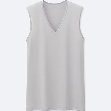 MEN AIRism Mesh V Neck Tank Top