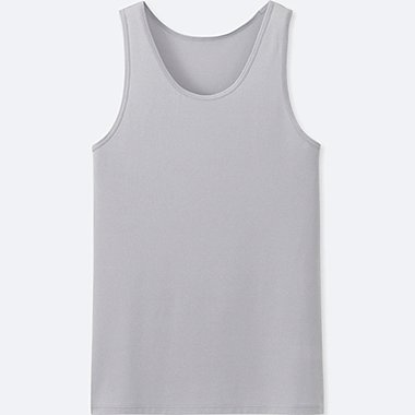 MEN AIRism MESH TANK TOP, LIGHT GRAY, medium
