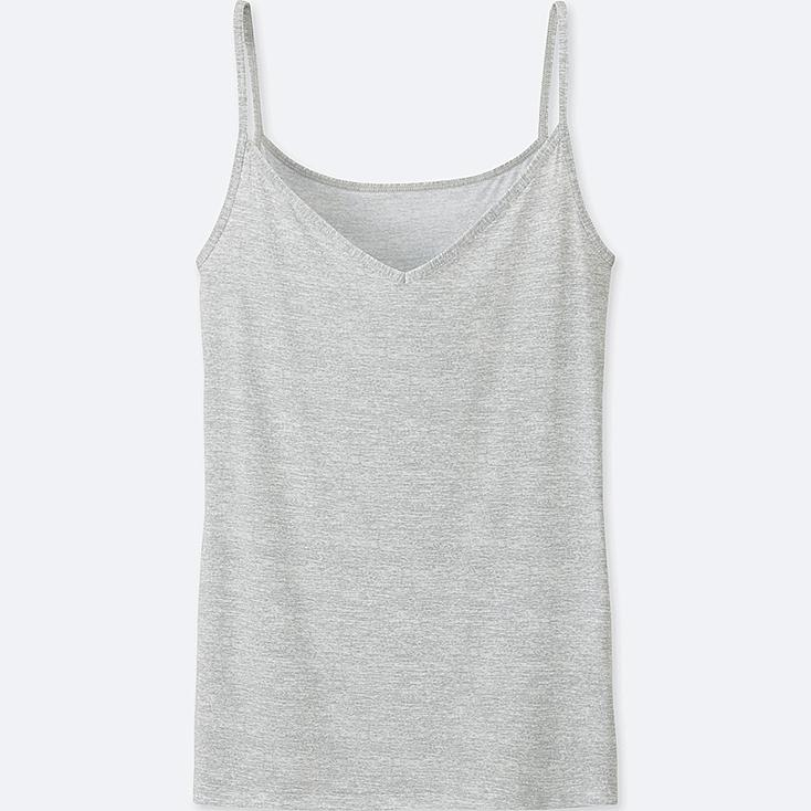 WOMEN AIRism CAMISOLE (HEATHER), LIGHT GRAY, large