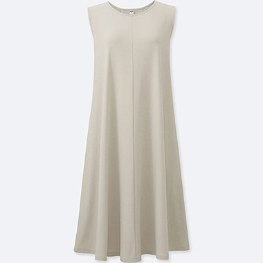 WOMEN Jersey Flare Sleeveless Dress