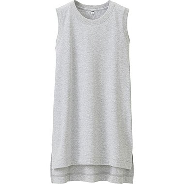 WOMEN Sleeveless Long T-Shirt