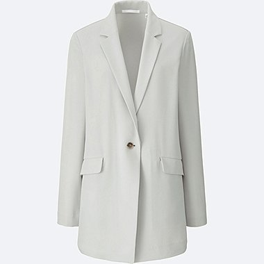 WOMEN Easy Care Drape Long Jacket