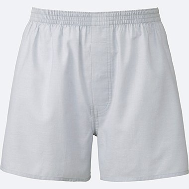 MEN WOVEN LIGHT OXFORD BOXERS, LIGHT GRAY, medium