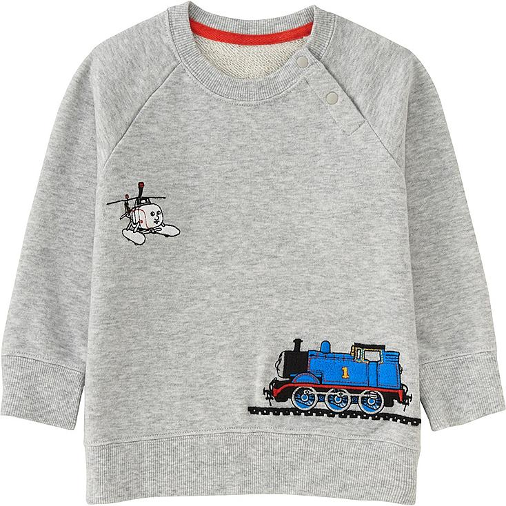 TODDLER THOMAS & FRIENDS LONG SLEEVE PULLOVER, LIGHT GRAY, large