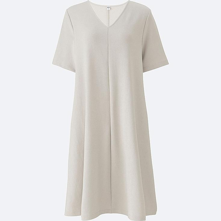 WOMEN Milano Ribbed V Neck Dress