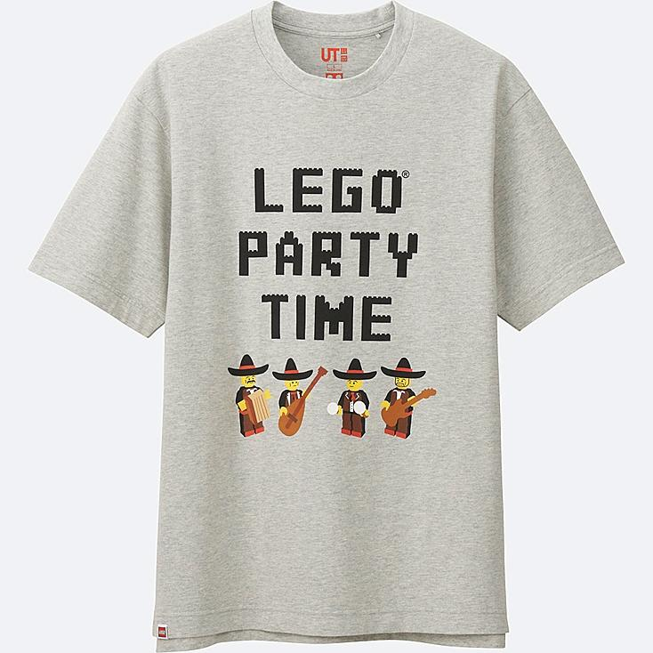 MEN LEGO® SHORT-SLEEVE GRAPHIC T-SHIRT, LIGHT GRAY, large