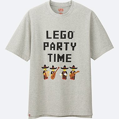 MEN LEGO® SHORT-SLEEVE GRAPHIC T-SHIRT, LIGHT GRAY, medium