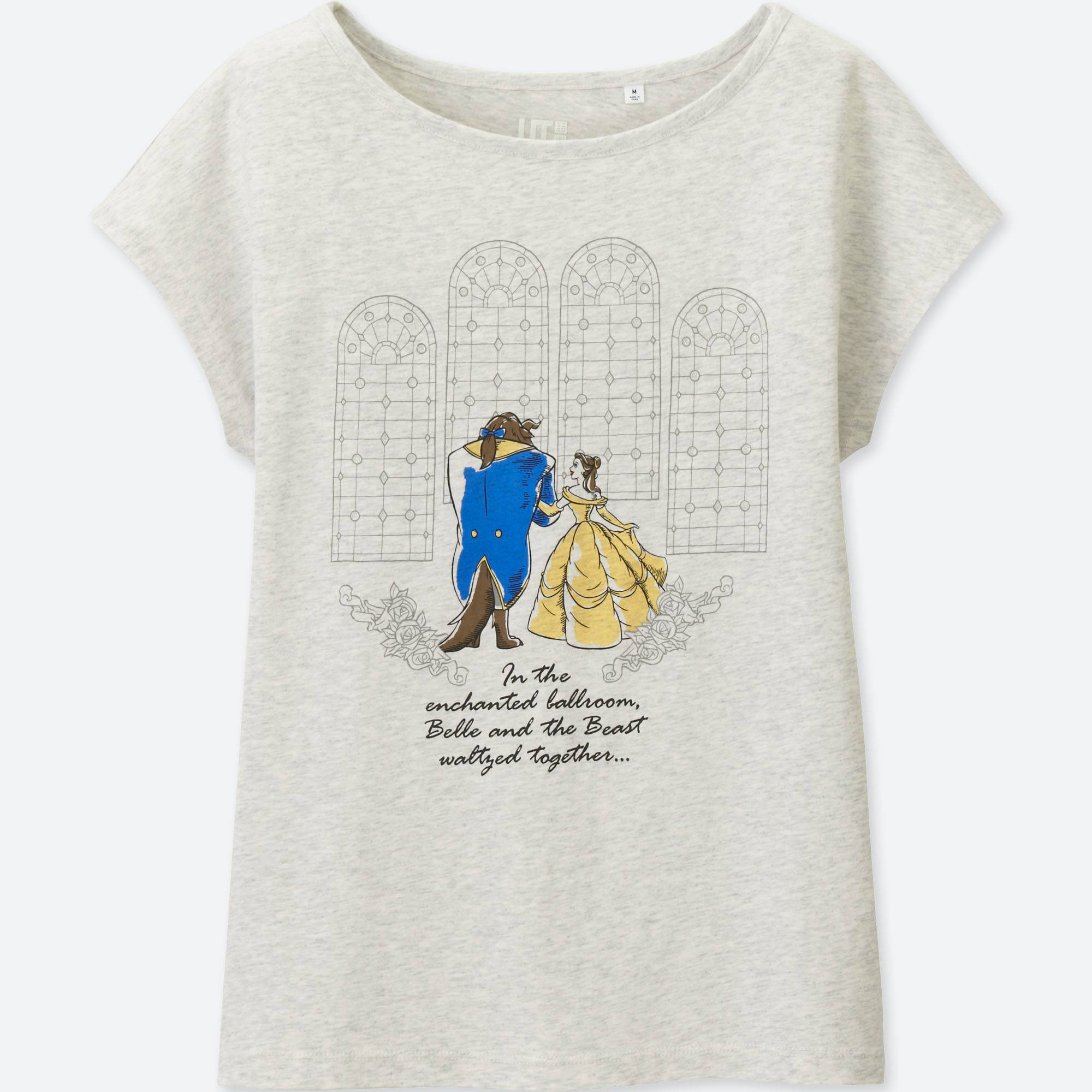 WOMEN Disney 'Beauty and the Beast' SHORT SLEEVE GRAPHIC T-SHIRT