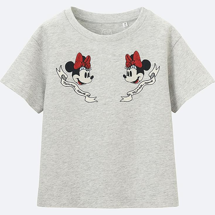 GIRLS Disney (Minnie Mouse Loves Dots) GRAPHIC T-SHIRT, LIGHT GRAY, large