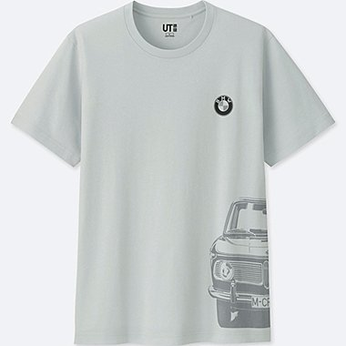 MEN THE BRANDS SHORT-SLEEVE GRAPHIC T-SHIRT (BMW), LIGHT GRAY, medium