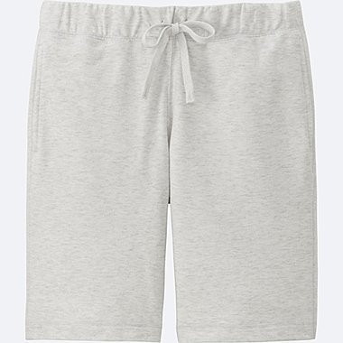 MEN COTTON EASY SHORTS, LIGHT GRAY, medium