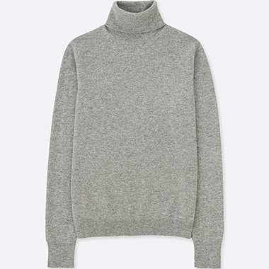 WOMEN CASHMERE TURTLE NECK SWEATER