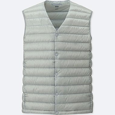 MEN ULTRA LIGHT DOWN COMPACT VEST, LIGHT GRAY, medium