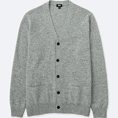 MEN LAMBSWOOL V NECK CARDIGAN
