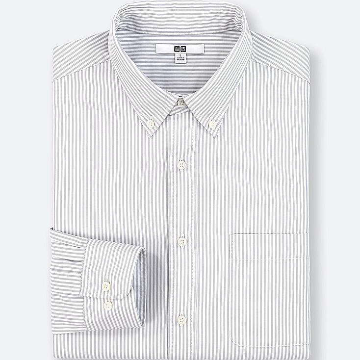 Camisa de algodón paño fino manga larga HOMBRE
