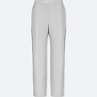 WOMEN WARM-LINED STRAIGHT PANTS, LIGHT GRAY, medium