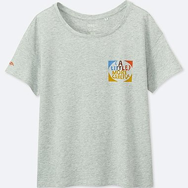 WOMEN SPRZ NY SHORT-SLEEVE GRAPHIC T-SHIRT (Corita Kent), LIGHT GRAY, medium