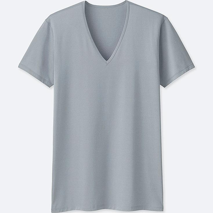 MEN AIRism V-NECK SHORT-SLEEVE T-SHIRT at UNIQLO in Brooklyn, NY | Tuggl