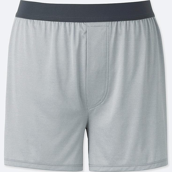 MEN AIRism BOXERS, LIGHT GRAY, large