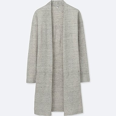 Damen Leinen-Mix Cardigan