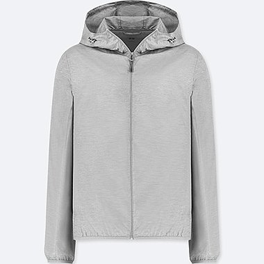 WOMEN POCKETABLE PARKA, LIGHT GRAY, medium