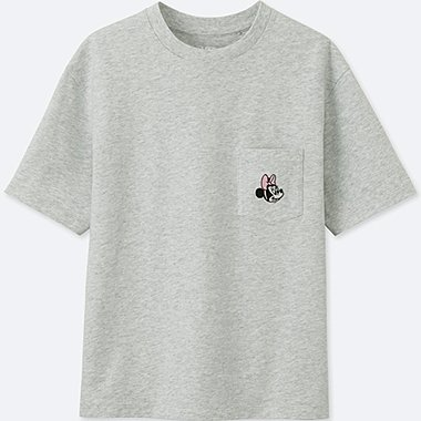 WOMEN MINNIE MOUSE BEST FRIENDS FOREVER SHORT-SLEEVE GRAPHIC T-SHIRT, LIGHT GRAY, medium