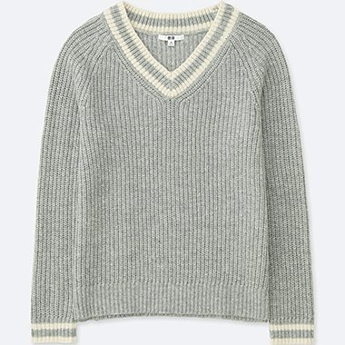WOMEN WOOL BLEND CRICKET SWEATER