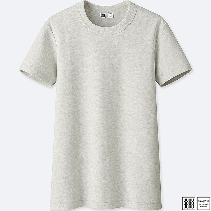 T-shirt 100% coton col rond Uniqlo U Femme
