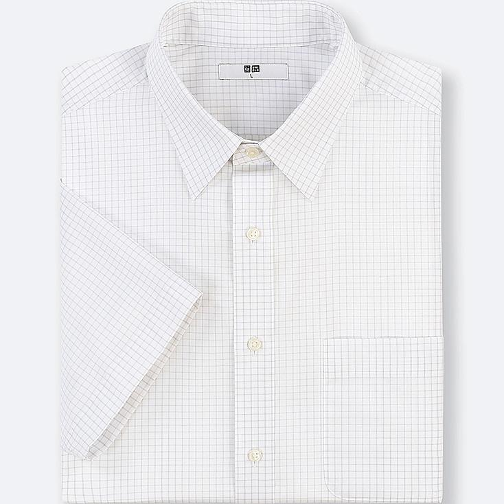 MEN DRY EASY CARE CHECKED SHORT-SLEEVE SHIRT(ONLINE EXCLUSIVE) | Tuggl