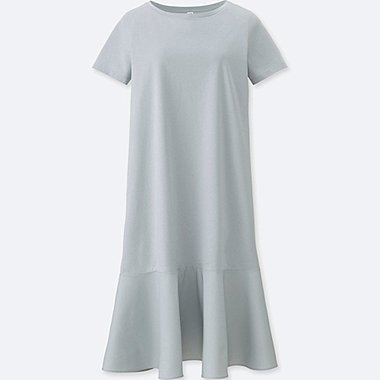 WOMEN Mercerized Combination SHORT SLEEVE Dress