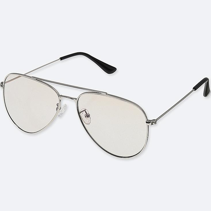 AVIATOR SUNGLASSES, LIGHT GRAY, large