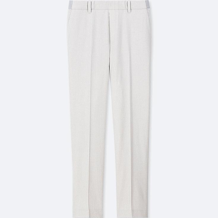 WOMEN EZY ANKLE-LENGTH PANTS, LIGHT GRAY, large