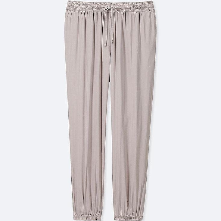 WOMEN DRAPE JOGGER PANTS, LIGHT GRAY, large