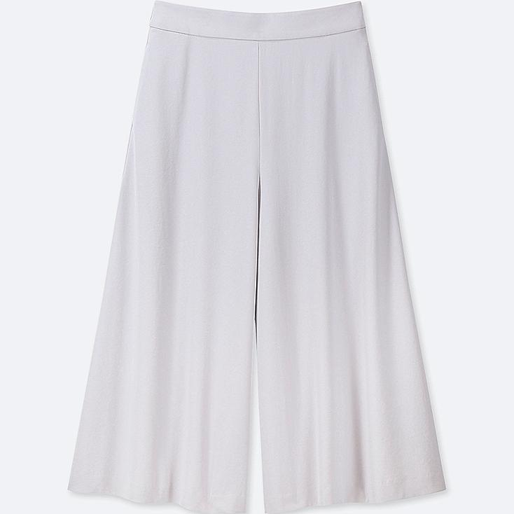 WOMEN DRAPE WIDE CROPPED PANTS at UNIQLO in Brooklyn, NY   Tuggl