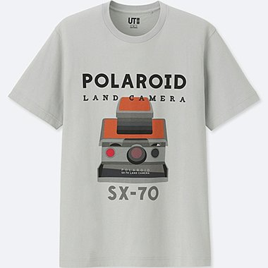 THE BRANDS SHORT-SLEEVE GRAPHIC T-SHIRT (POLAROID), LIGHT GRAY, medium
