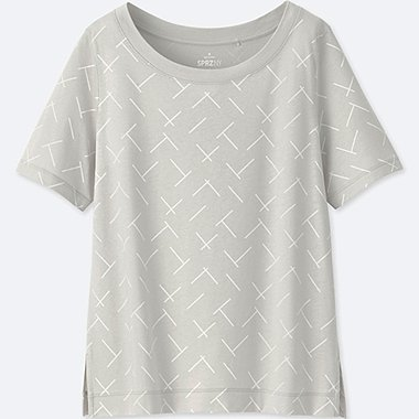WOMEN SPRZ NY SHORT-SLEEVE GRAPHIC T-SHIRT (FRANCOIS MORELLET), LIGHT GRAY, medium