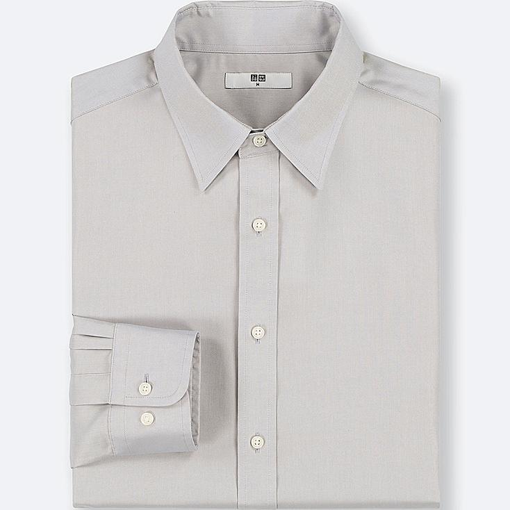 MEN EASY CARE OXFORD REGULAR-FIT LONG-SLEEVE SHIRT (ONLINE EXCLUSIVE), LIGHT GRAY, large