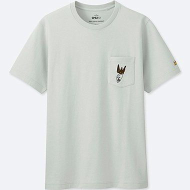 MEN SPRZ NY GRAPHIC T-SHIRT (JEAN-MICHEL BASQUIAT), LIGHT GRAY, medium