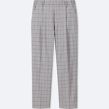 WOMEN EZY TUCKED ANKLE LENGTH TROUSERS
