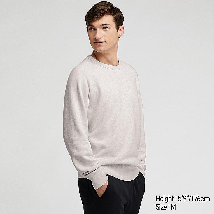 MEN LONG-SLEEVE SWEATSHIRT, LIGHT GRAY, large