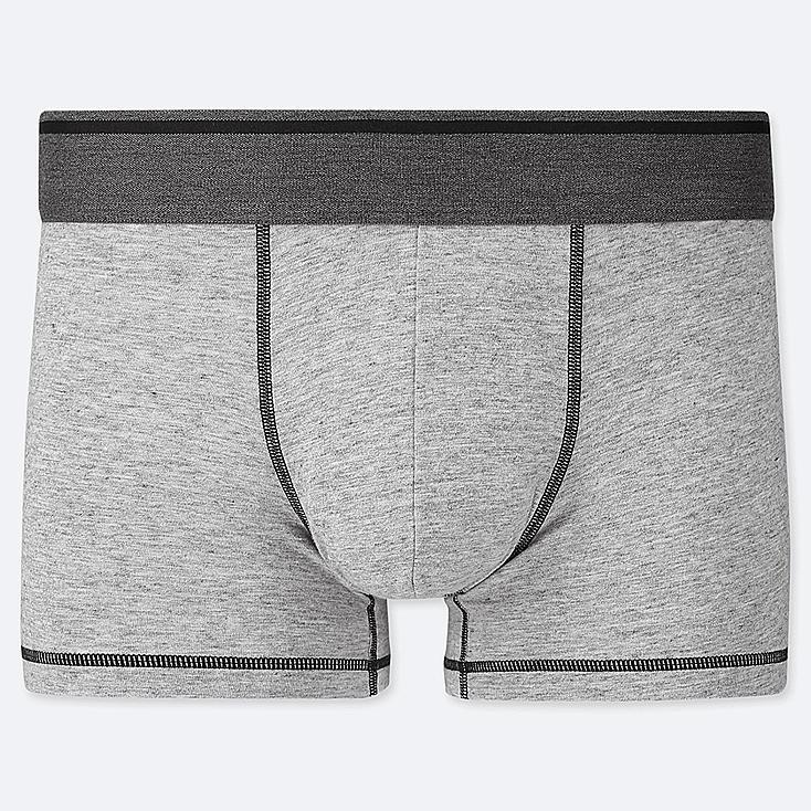 MEN SUPIMA® COTTON LOW-RISE BOXER BRIEFS, LIGHT GRAY, large
