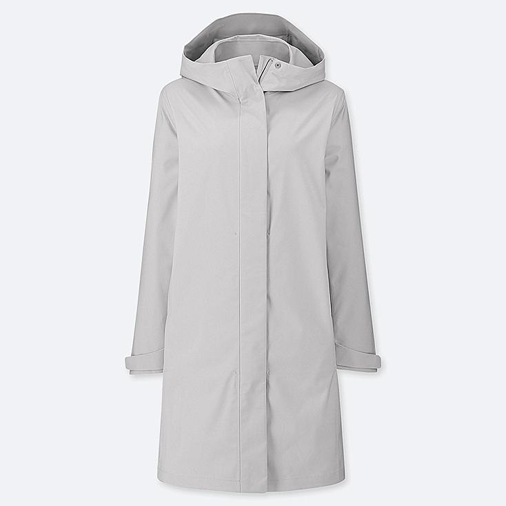 WOMEN BLOCKTECH COAT, LIGHT GRAY, large