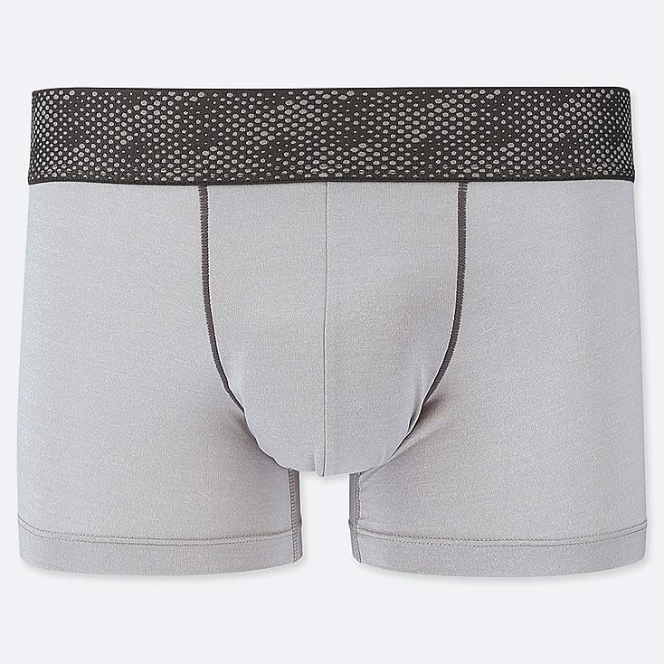 MEN AIRism LOW-RISE BOXER BRIEFS, LIGHT GRAY, large
