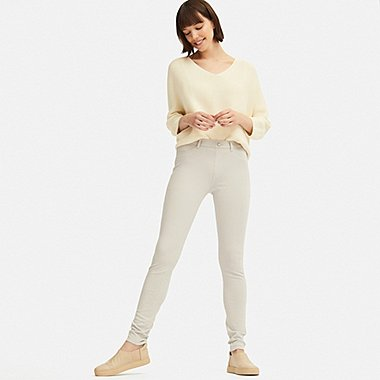 WOMEN ULTRA STRETCH LEGGINGS PANTS (EXTENDED LENGTH) (ONLINE EXCLUSIVE), LIGHT GRAY, medium
