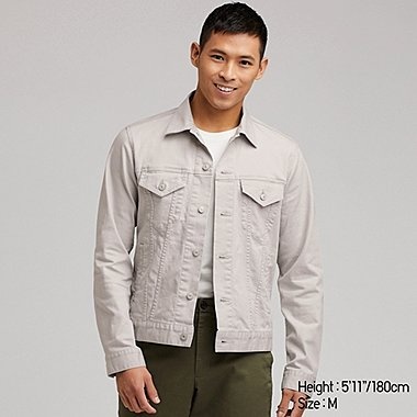 MEN TWILL JACKET, LIGHT GRAY, medium